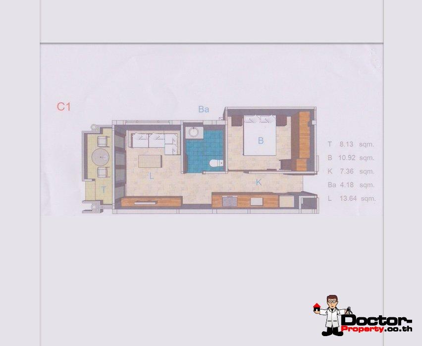 Studio Apartment 1 Bed - Choeng Mon - Koh Samui - For Sale