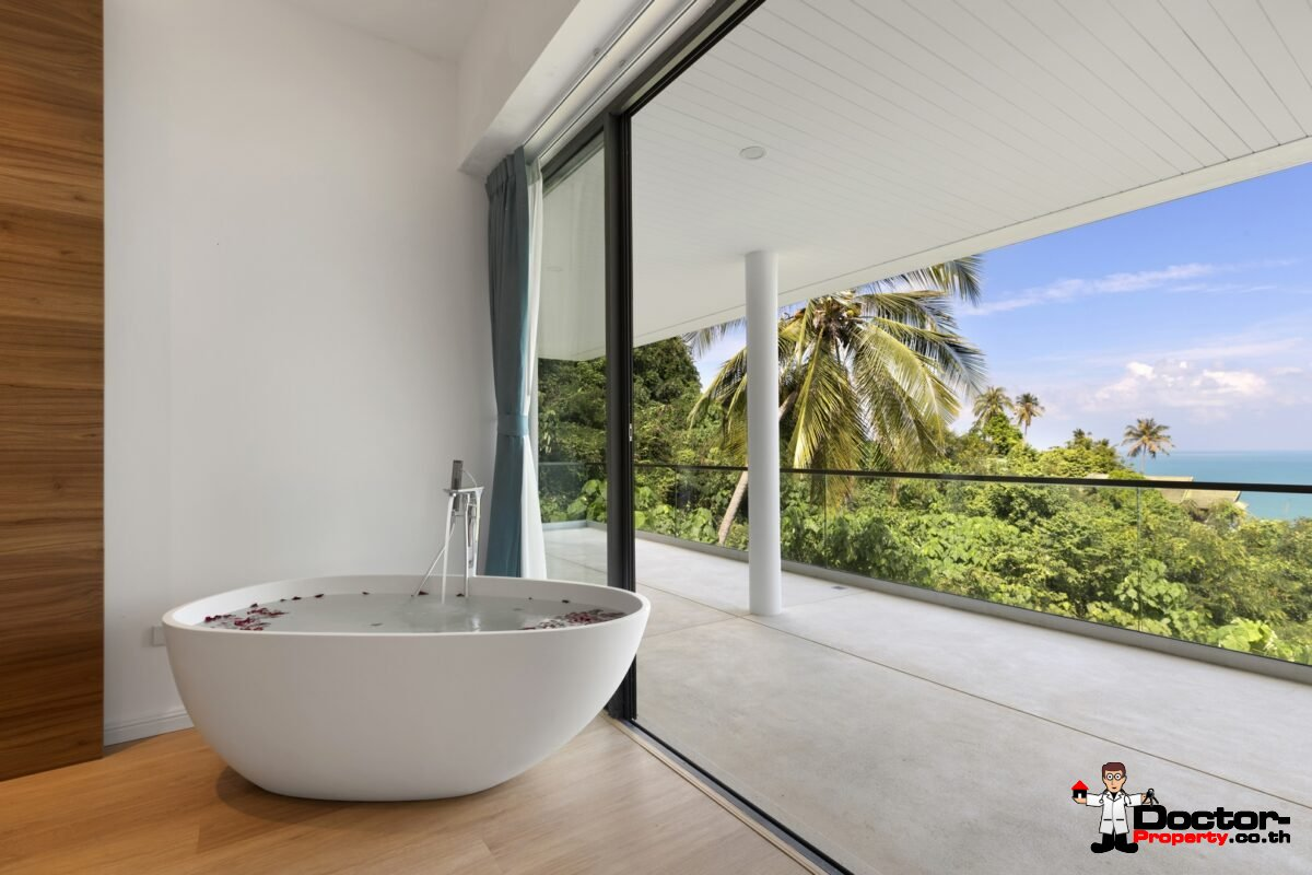 New 3 Bedroom Sea View Villa – Chaweng Noi – Koh Samui – For Sale