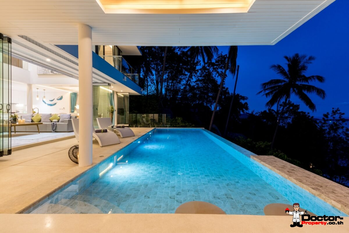 New 4 Bedroom Sea View Villa – Chaweng Noi – Koh Samui – For Sale