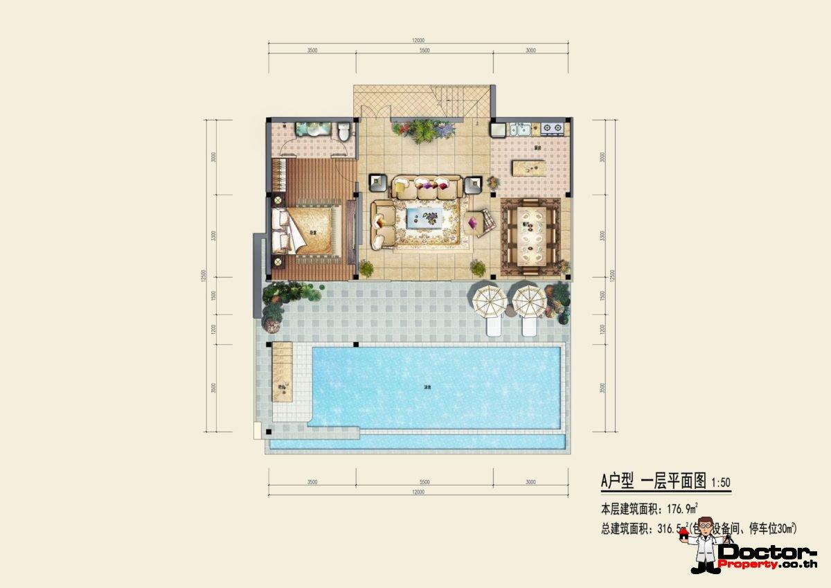 Type A1 - Sea View Villa - Chaweng Noi - Koh Samui - for sale