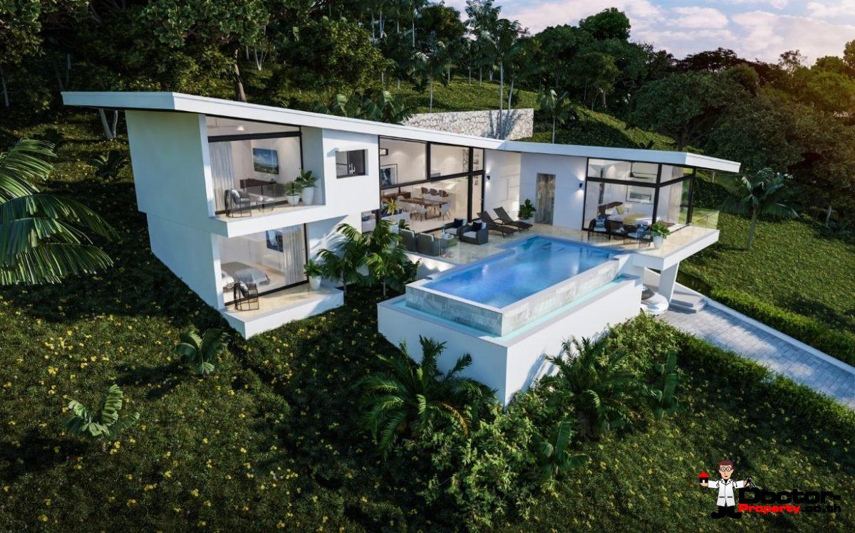 3 Bedroom Sea View Villa - Choeng Mon - Koh Samui - for sale