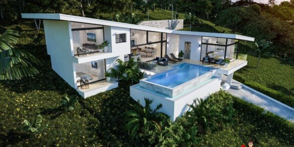 3 Bedroom Sea View Villa - Choeng Mon - Koh Samui - for sale