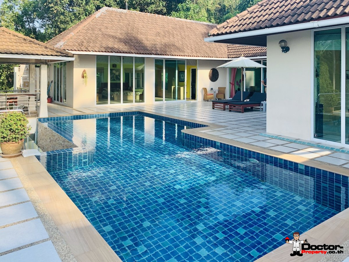 3 Bedroom House on 1 rai, Sea View - Taling Ngam, Koh Samui - For Sale