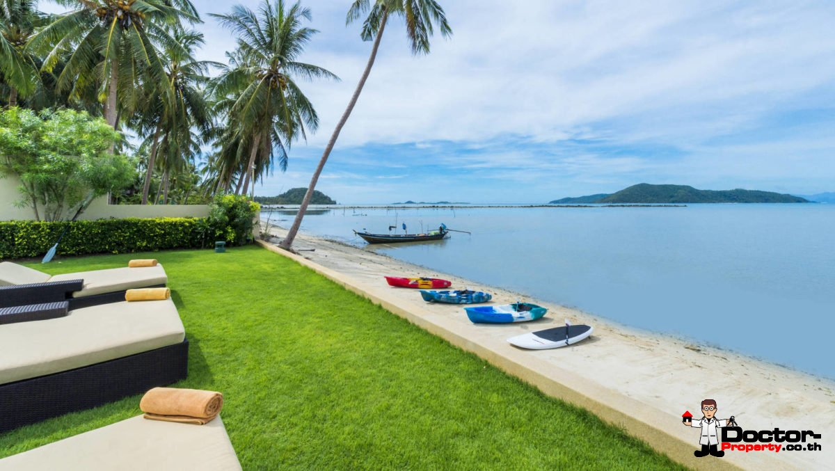 Amazing 5 Bedroom Beachfront Villa - Taling Ngam - Koh Samui - for sale
