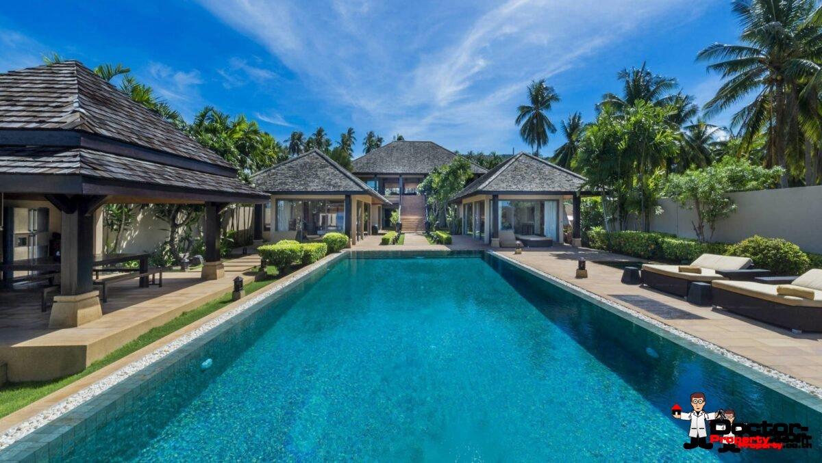 Amazing 5 Bedroom Beachfront Villa - Taling Ngam - Koh Samui - for sale