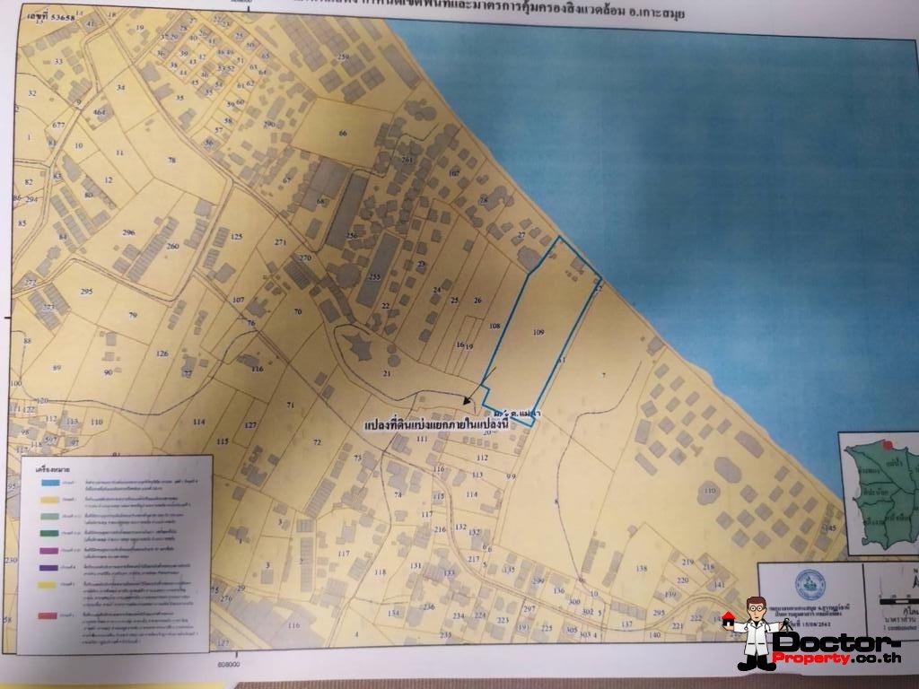 4 Rai Beachfront Land - Mae Nam - Koh Samui - for sale