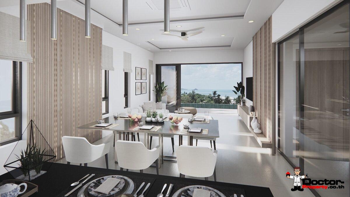 3 Bedroom Sea View Villa - Bophut - Koh Samui - for sale