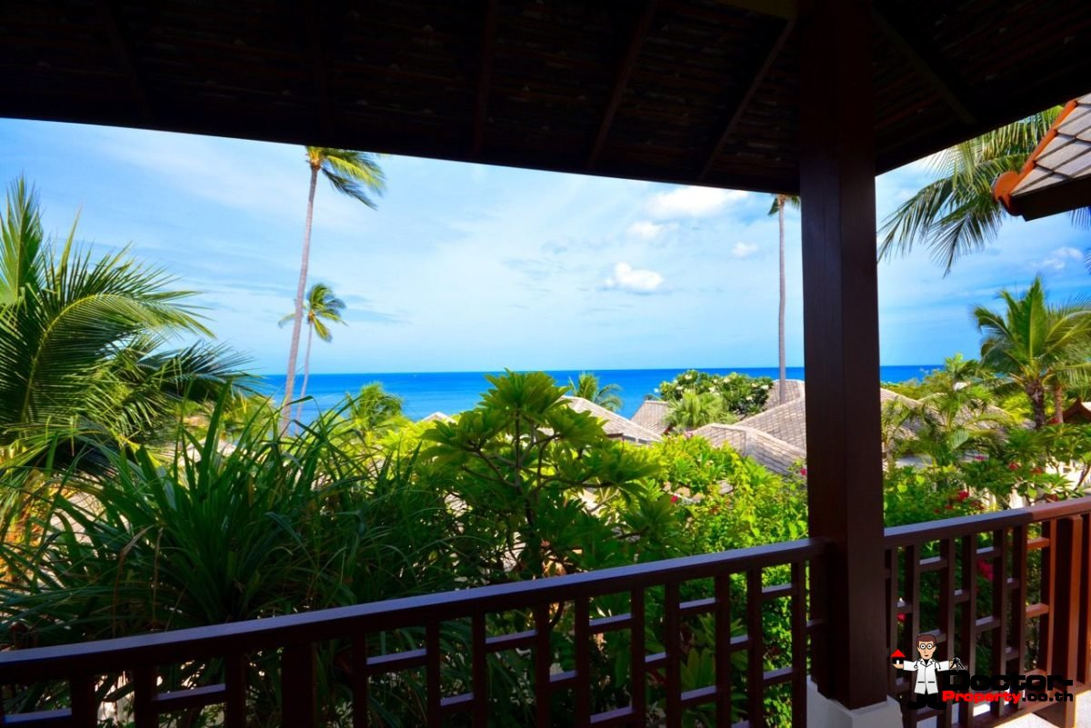 3 Bedroom Pool Villa with Sea View In A Gated Community - Choeng Mon, Koh Samui - For Sale