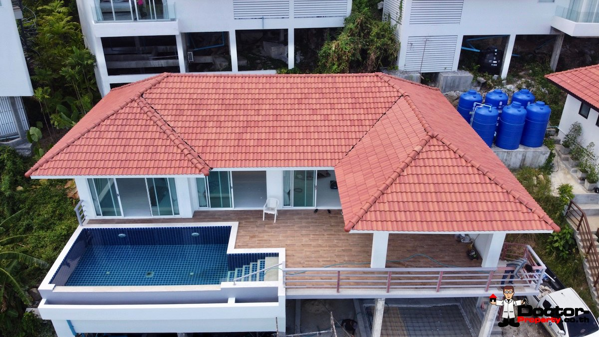 New 2 Bedroom Pool Villa with Sea Views - Chaweng, Koh Samui - For Sale