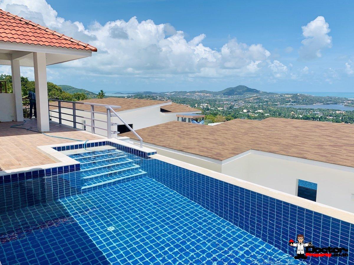 New 2 Bedroom Pool Villa with Sea Views - Chaweng, Koh Samui - For Sale