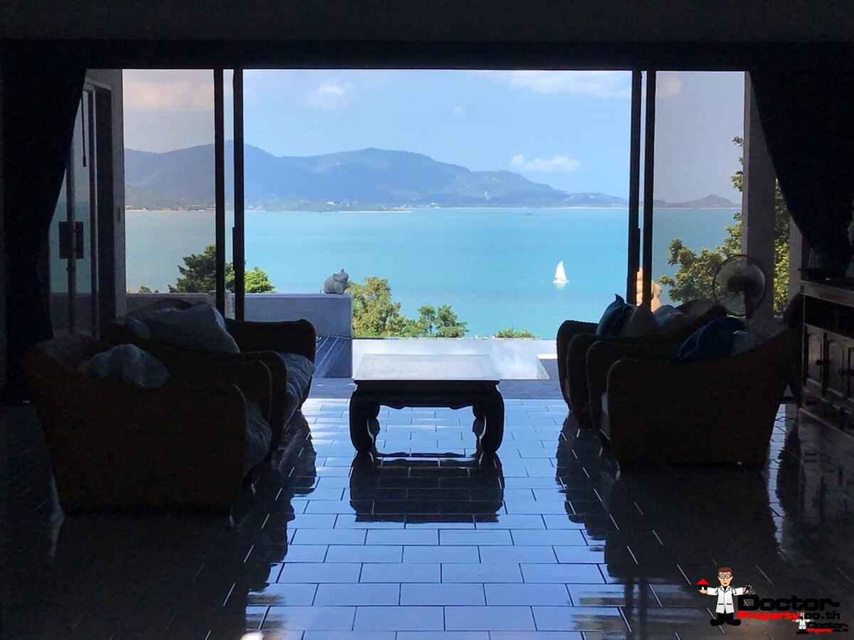 3 Bedroom Villa with Stunning Sea View - Plai Laem, Koh Samui - For Sale