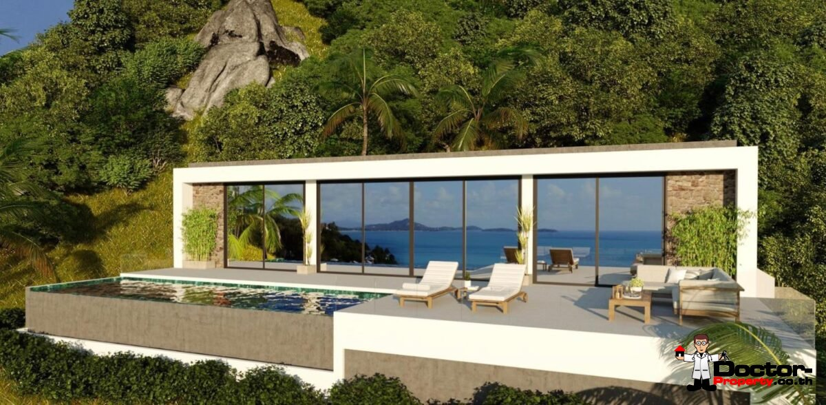 New 2 Bedroom Sea View Villa – Chaweng Noi, Koh Samui – For Sale
