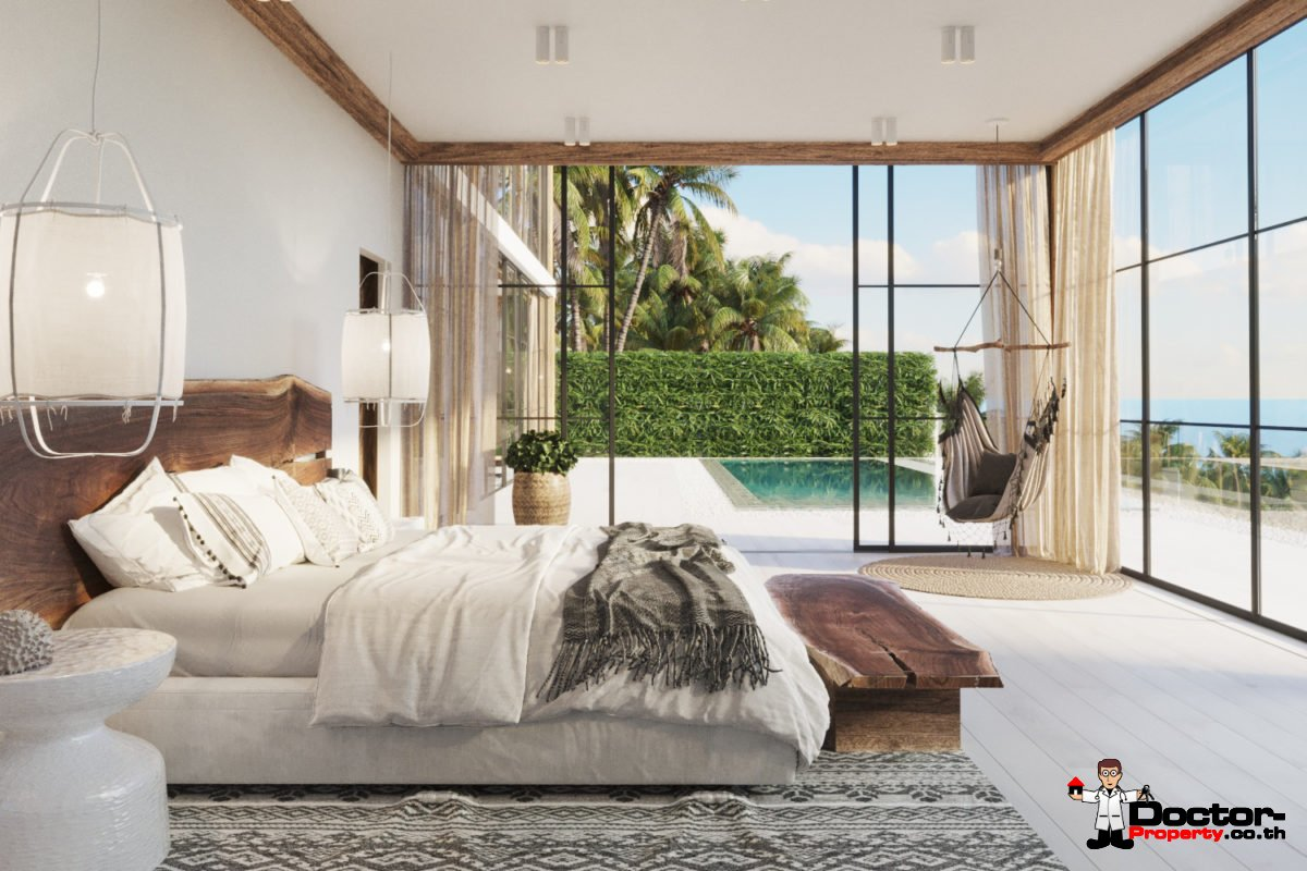 New 3 Bedroom Villa with Sea View – Chaweng Noi, Koh Samui – For Sale