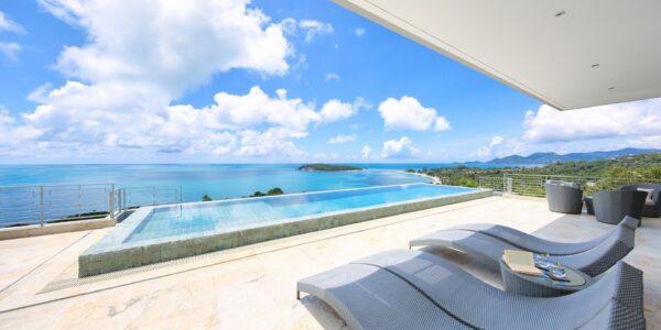Fantastic 4 Bedroom Sea View Villa - Choeng Mon - Koh Samui - for sale
