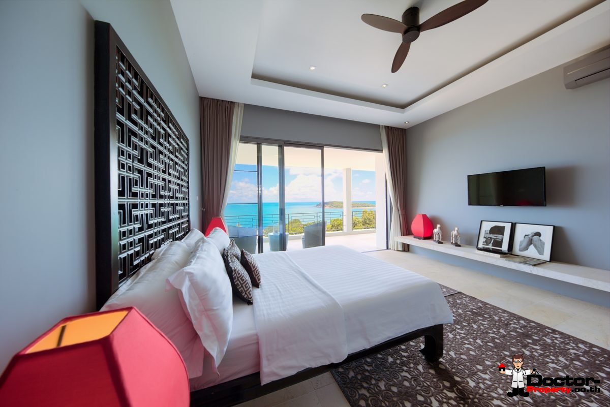 Fantastic 4 Bedroom Sea View Villa - Choeng Mon - Koh Samui - for sale