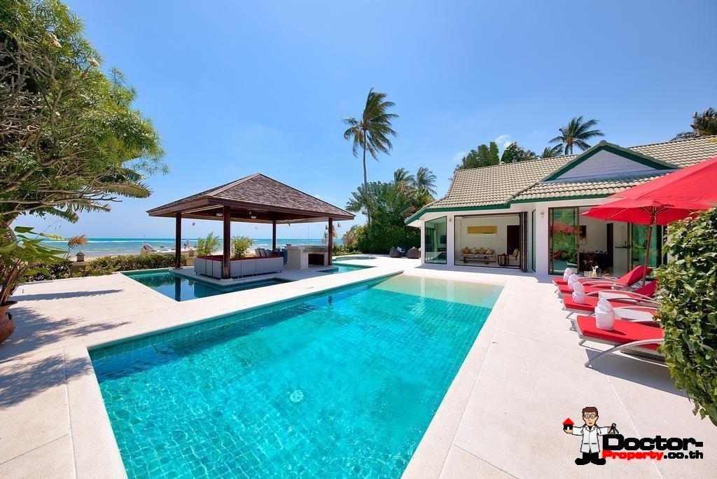 4 Bedroom Beachfront Villa - Hua Thanon - Koh Samui - for sale