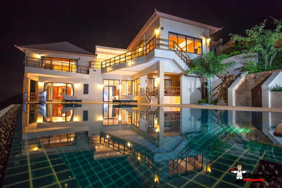 5 Bedroom Villa with Sea View - Bang Por - Koh Samui - for sale