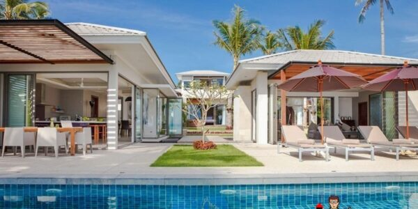 8 Bedroom Beachfront Villa - Lipa Noi - Koh Samui - for sale