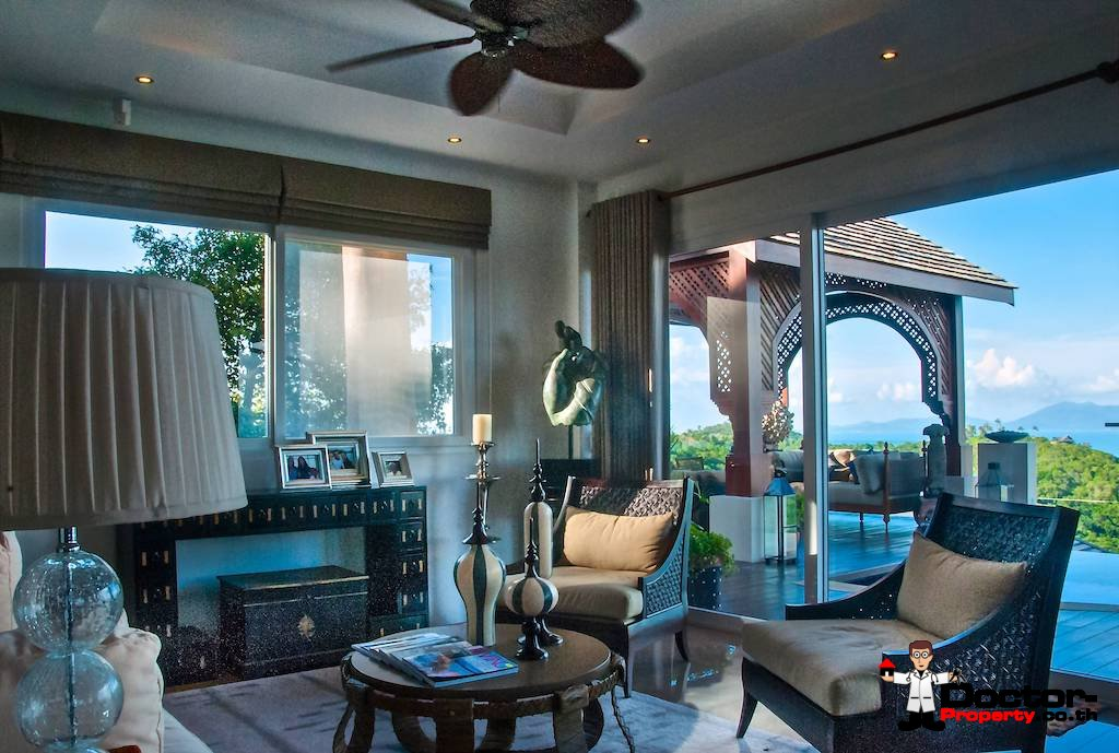 5 Bedroom Villa with Sea View - Bophut - Koh Samui - for sale