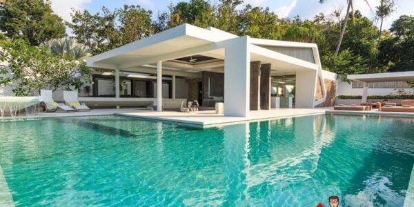 5 Bedroom luxury Villa with Sea View - Bang Por - Koh Samui - for sale