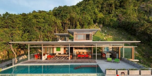 6 Bed Sea View Open Concept Villa - Taling Ngam - Koh Samui - for sale