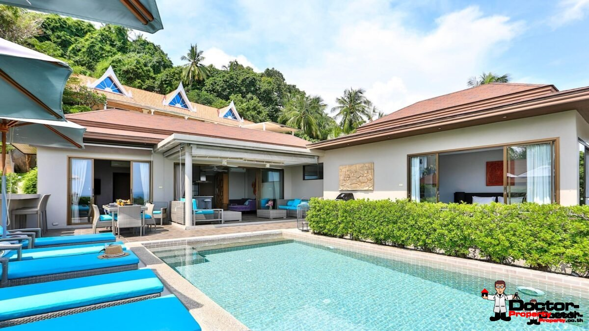 4 Bedroom Sea View Villa - Lamai - Koh Samui - for sale