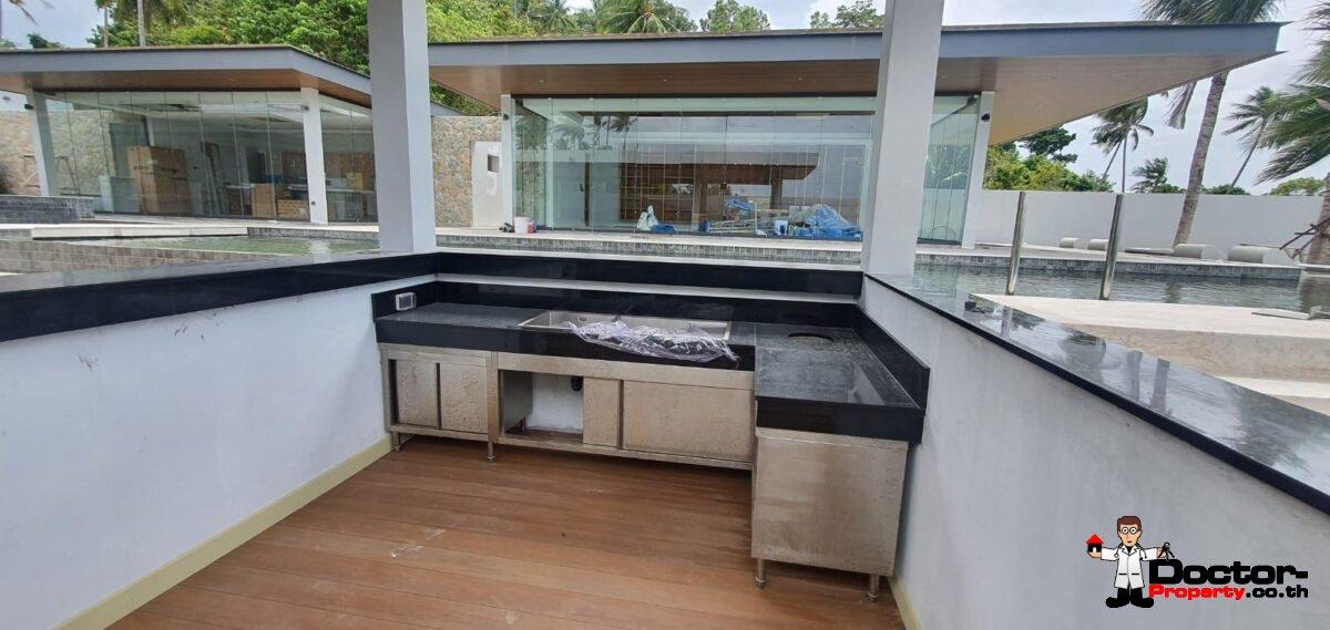 New 6 Bedroom Beachfront Villa – Laem Sor, Koh Samui – For Sale