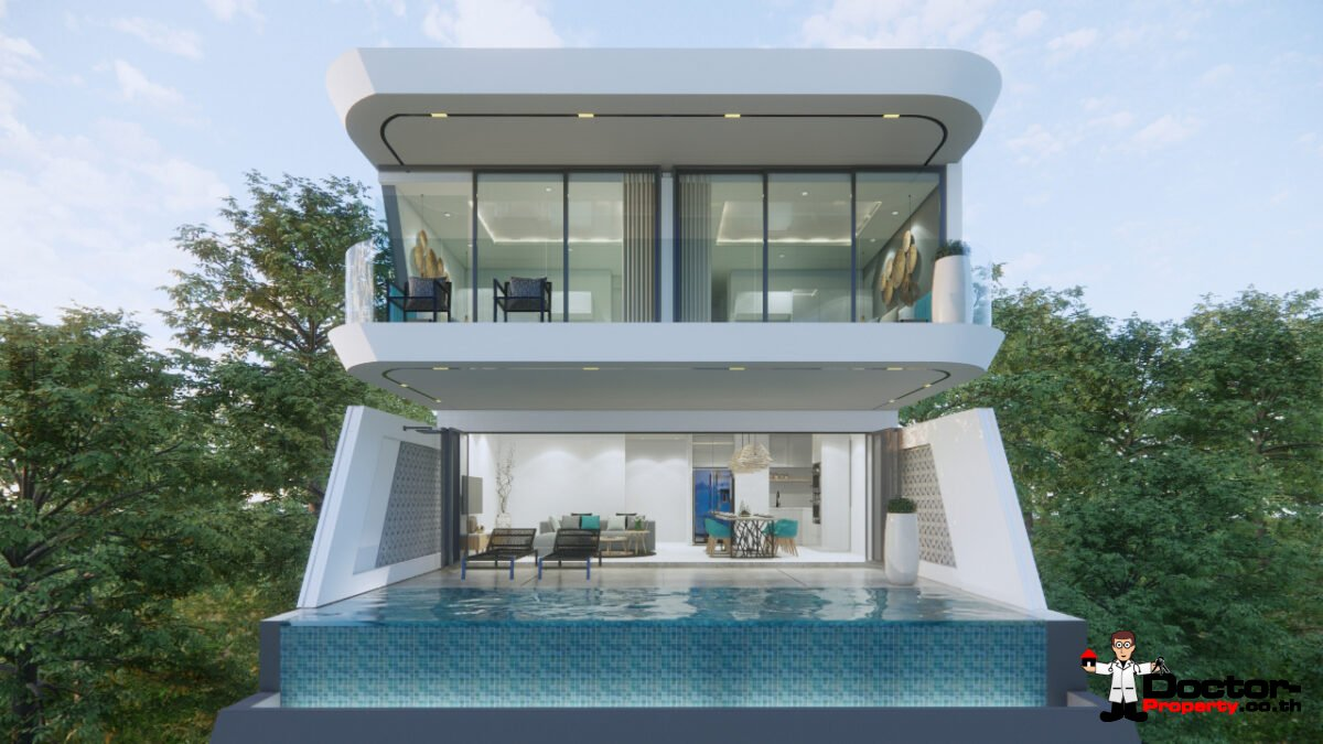 New 3 Bedroom Sea View Villa – Chaweng Noi, Koh Samui – For Sale