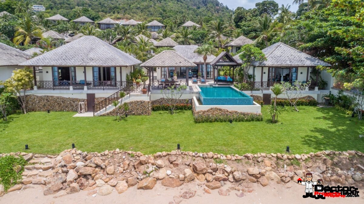Beachfront 4 Bedroom Villa - Chaweng Beach - Koh Samui - for sale
