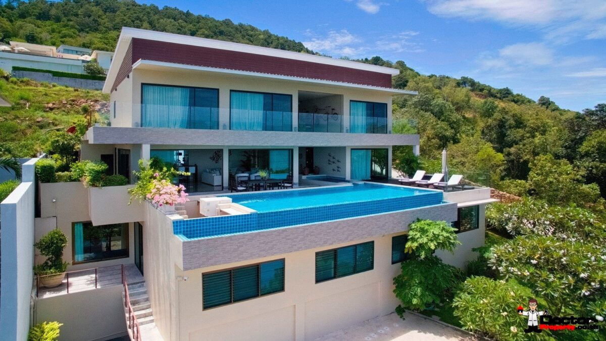 6 Bedroom Sea View Villa - Chaweng - Koh Samui - for sale