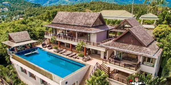 Traditional 5 Bedroom Panoramic Sea View Villa - Bo Phut - Koh Samui - for sale