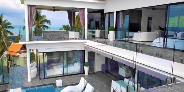New 3 Bedroom Villa with Sea View - Nathon - Koh Samui - for sale