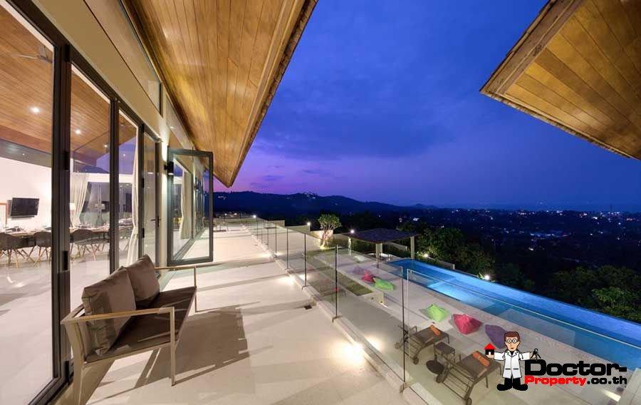 6 Bedroom Panoramic Sea View Villa - Bo Phut - Koh Samui - for sale
