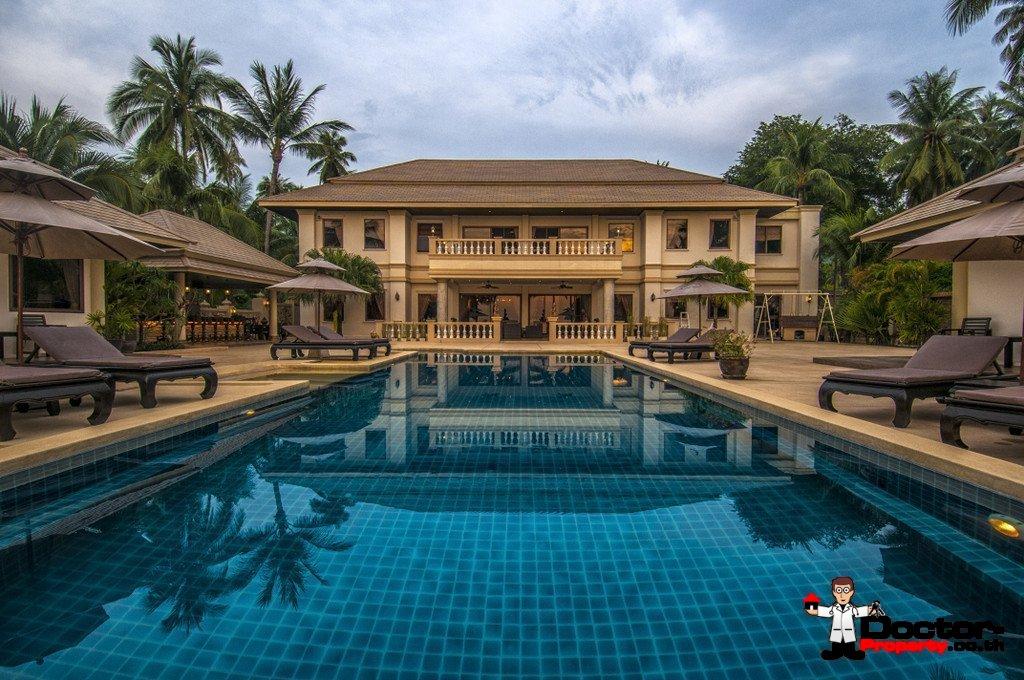 Beachfront 7 Bedroom Villa + 3 Guest Villas + Apartments - Taling Ngam - Koh Samui for sale
