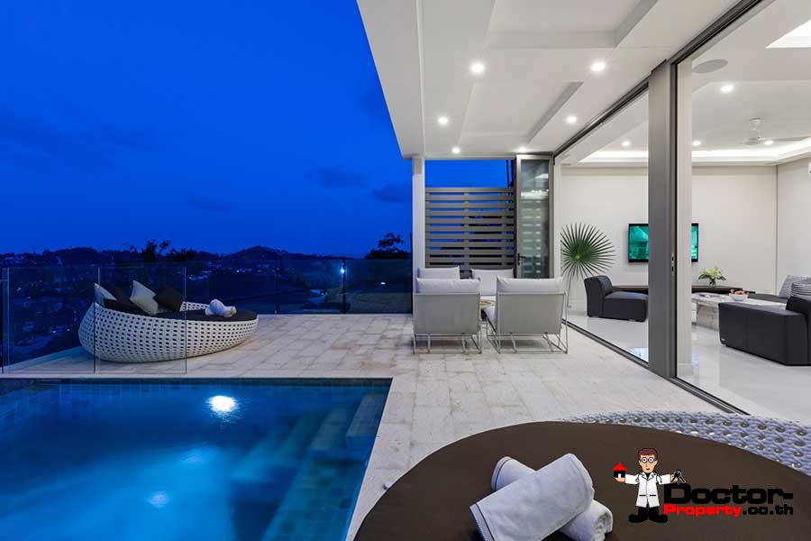New 4 Bedroom Villa with Sea View - Choeng Mon - Koh Samui - for sale