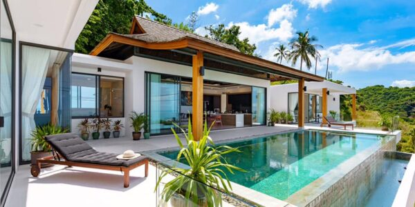 3 Bedroom Villa with Sea View – Chaweng Noi, Koh Samui – For Sale
