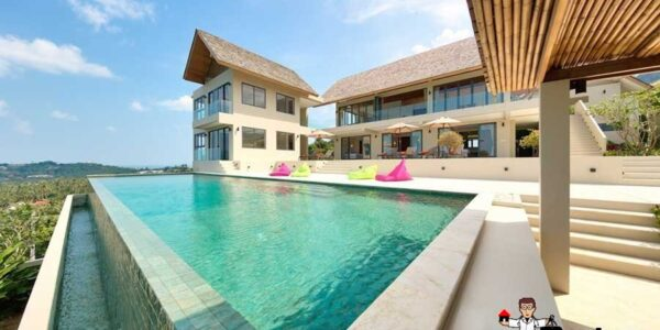 6 Bedroom Panoramic Sea View Villa - Bo Phut - Koh Samui - for sale