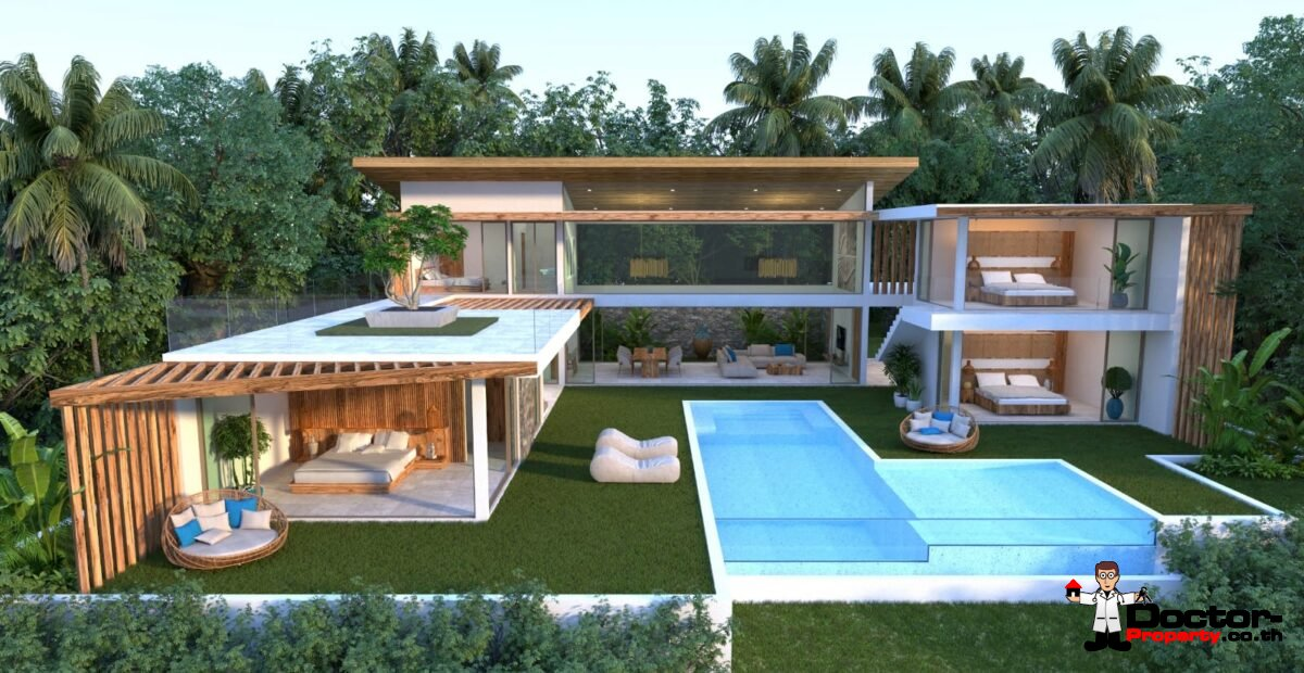 New 4 Bedroom Pool Villa with Sea View - Chaweng Noi, Koh Samui - For Sale
