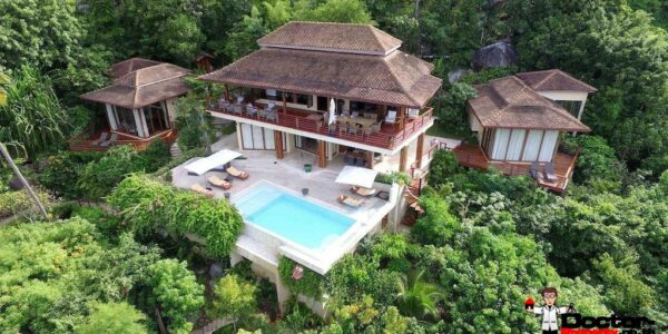 4 Bedroom Sea View Pool Villa - Laem Set - Koh Samui - for sale