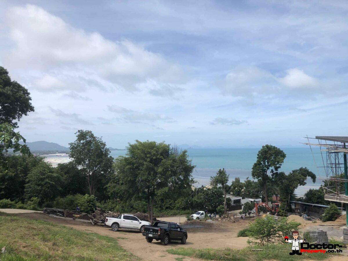 New Fantastic 4 Bedroom Sea View Villa - Bang Makham - Koh Samui - for sale