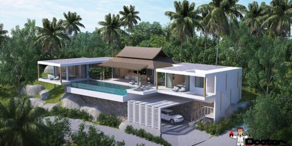 New finished 3 Bedroom Villa with Sea View - Chaweng Noi - Koh Samui - for sale