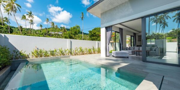 New 3 Bedroom Villa with Sea View - Bophut - Koh Samui - for sale