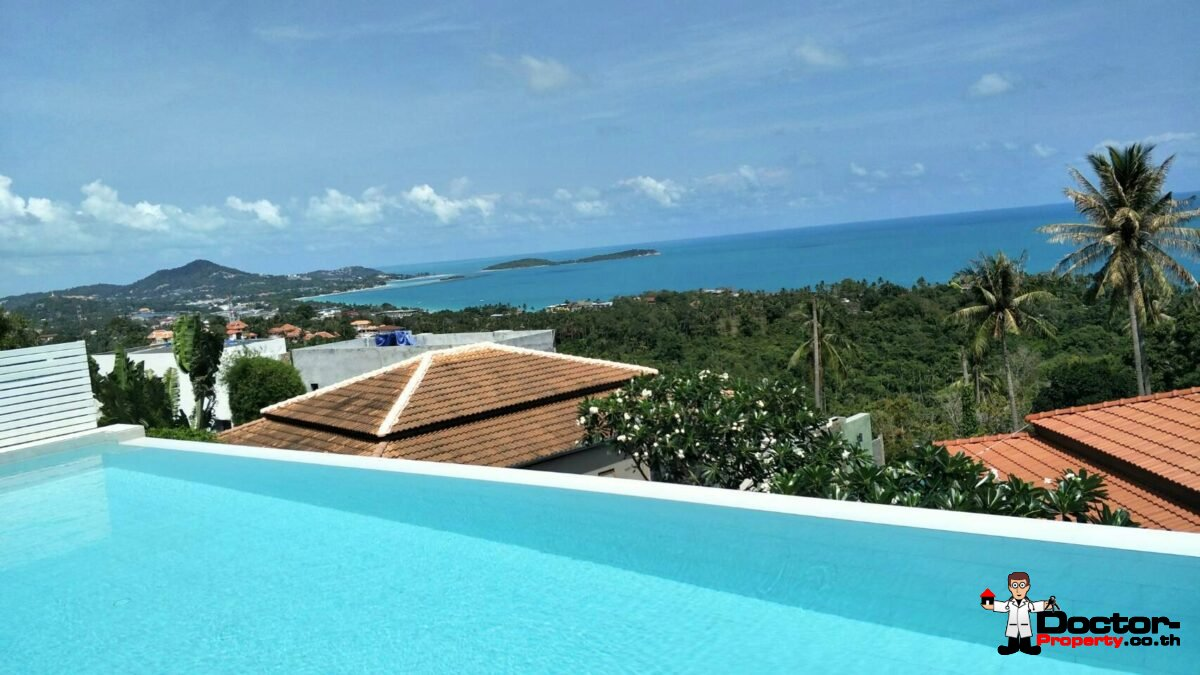 New 3 Bedroom Villa with Sea View - Chaweng Noi - Koh Samui - for sale