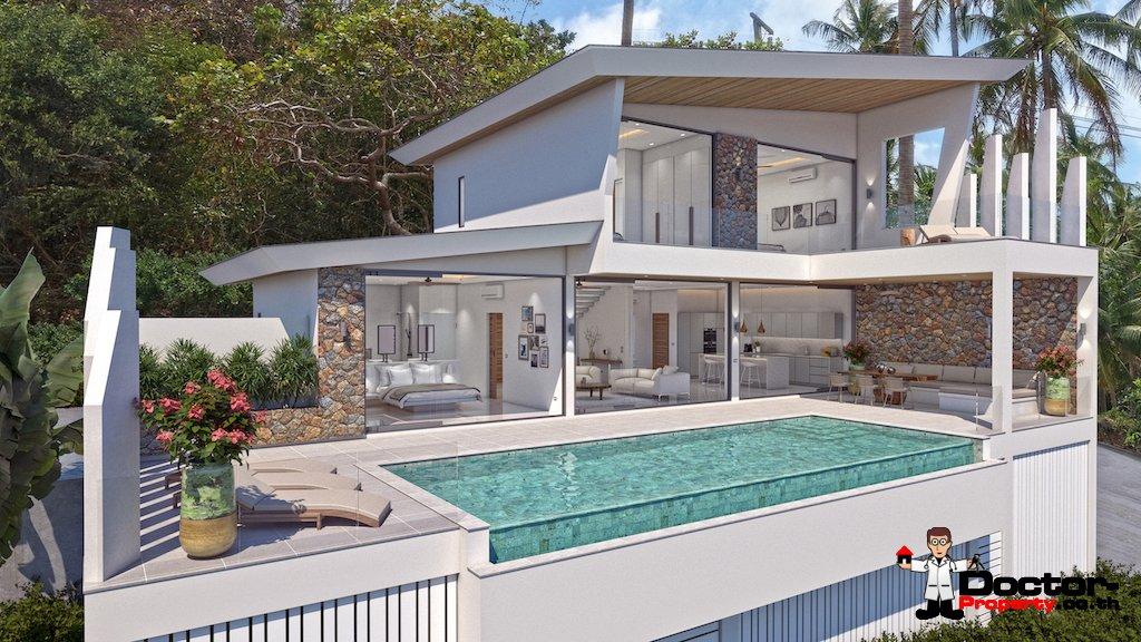 New 3 Bedroom Villa with Sea View - Bophut - Koh Samui - for sale