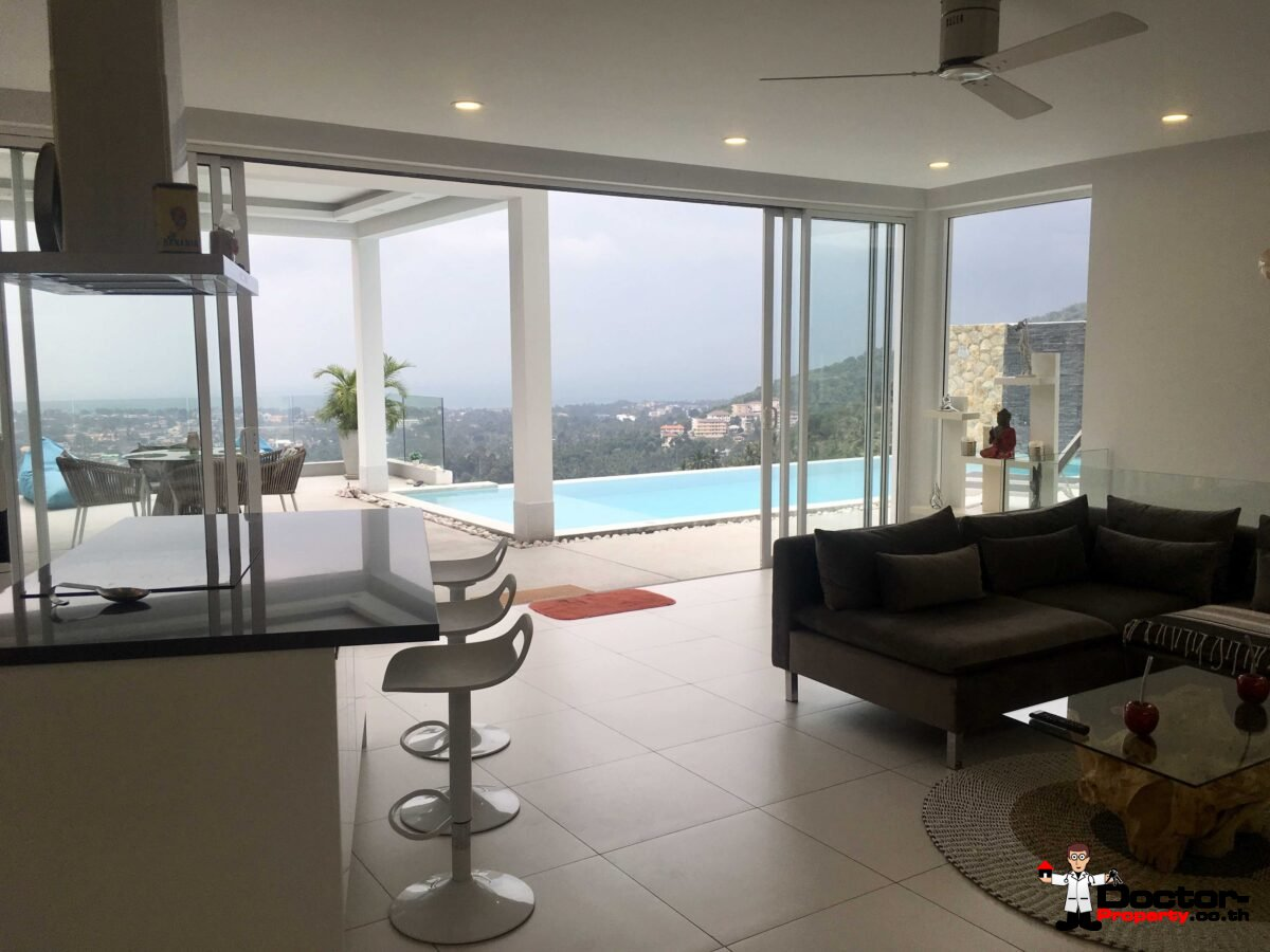 3 Bedroom Sea View Villa - Chaweng - Koh Samui - for sale