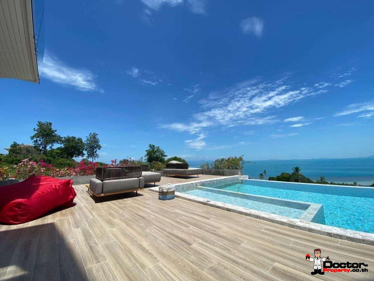 New 3 Bedroom Sea View Villa - Bang Makham -Koh Samui - for sale