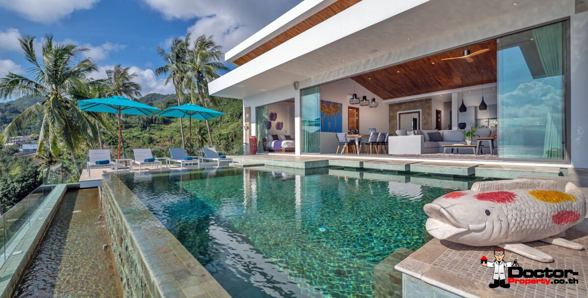 Fantastic 6 Bedroom Sea View Villa - Chaweng Noi - Koh Samui - for sale