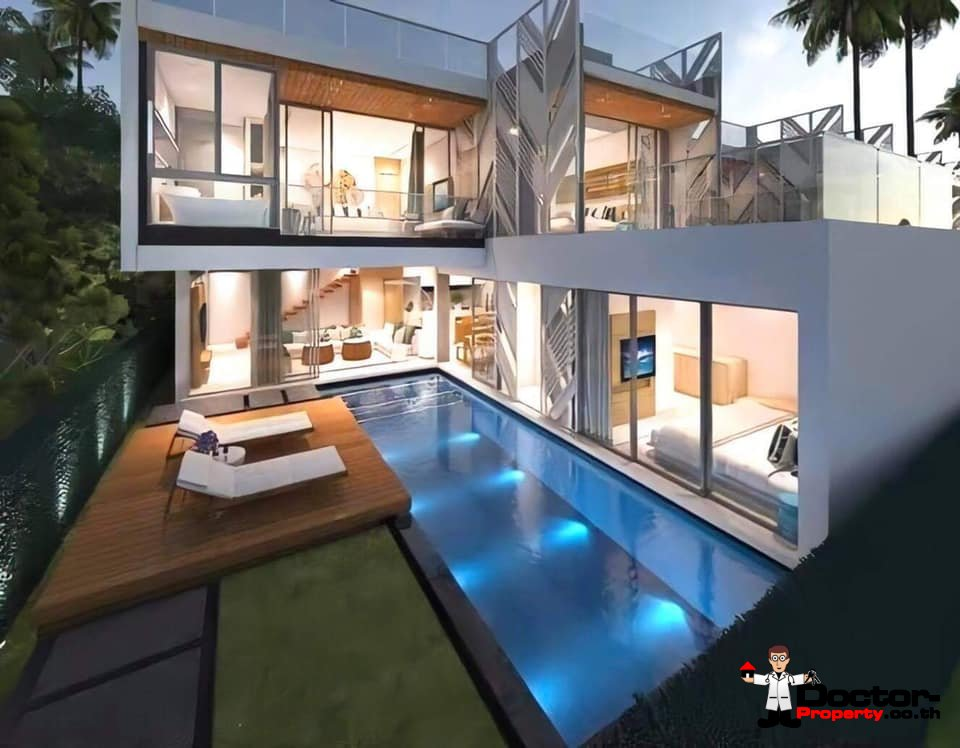 New Furnished 3 Bedroom Pool Villa – Bo Phut, Koh Samui – For Sale