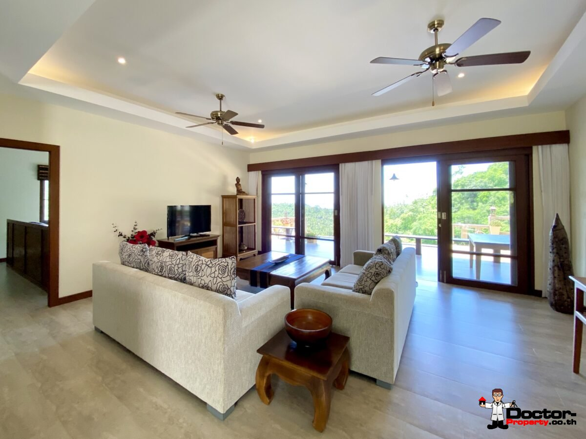 4 Bed Pool Villa with Sea View – Taling Ngam, Koh Samui – For Sale