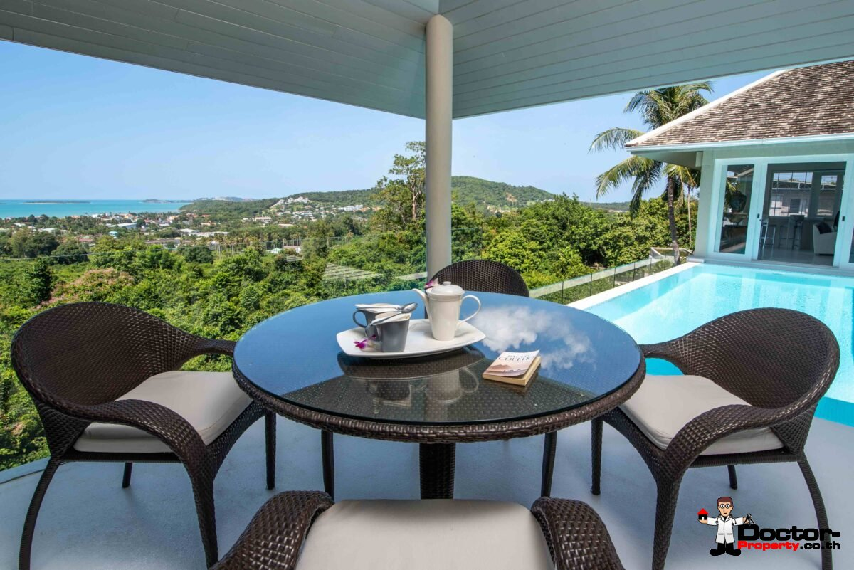 5 Bedroom Sea View Villa - Bophut - Koh Samui - for sale
